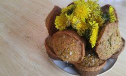 Gluten-Free/Vegan Dandelion Flower Muffins