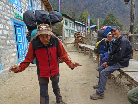 transporting suppplies in Nepal-450x338