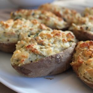 Twice-Baked Potatoes With Blue Cheese And Broccoli