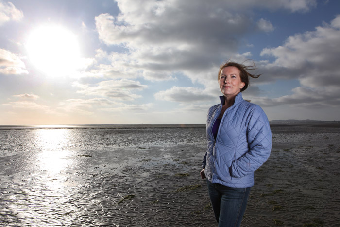 Pictured at Sandymount Strand was author Lorna Byrne. Picture Jason Clarke Photography. No Repro Fee.