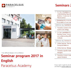 Paracelsus Seminars For 2017