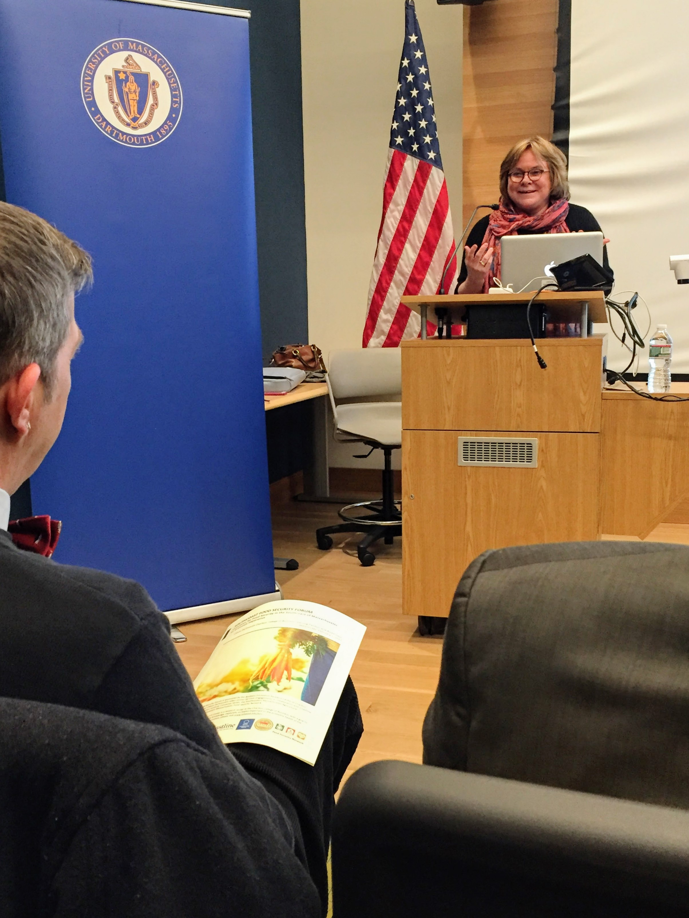 Project Bread Executive Director Ellen Parker Delivers The Keynote Address At The SouthCoast Food Security Forum Held Wednesday, February 1st, At UMass Dartmouth's Charlton College Of Buisness.
