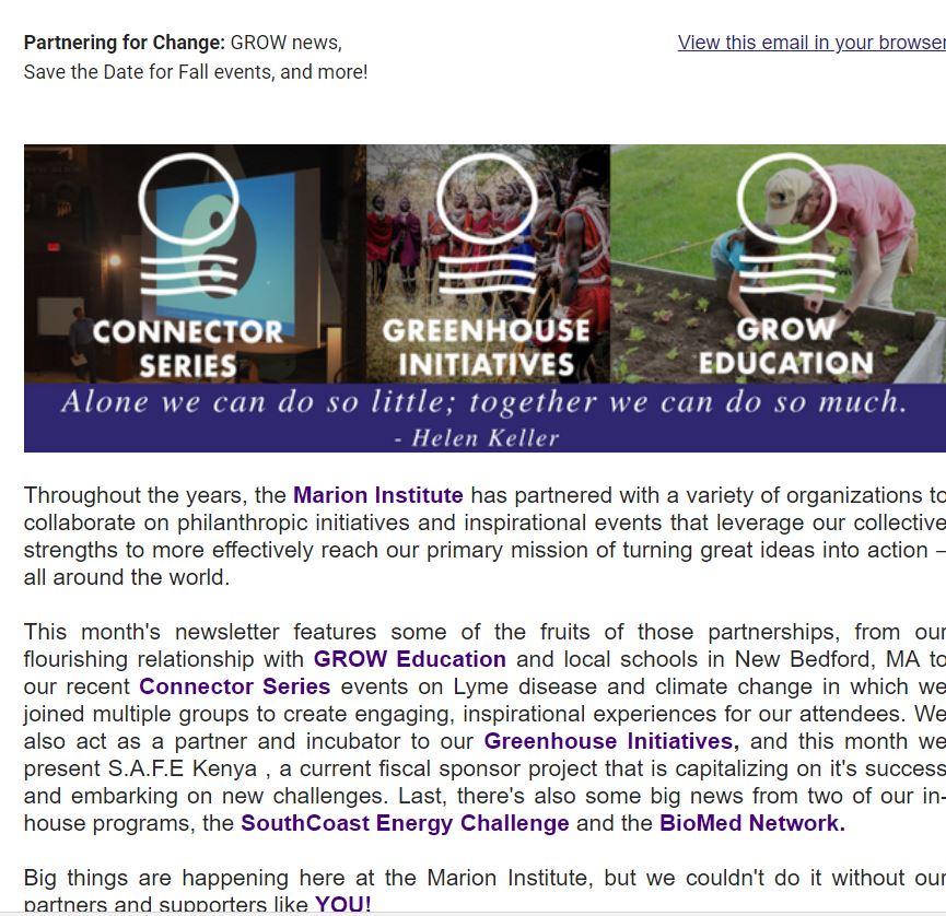 mi quarterly newsletter june 2017 partnering for change