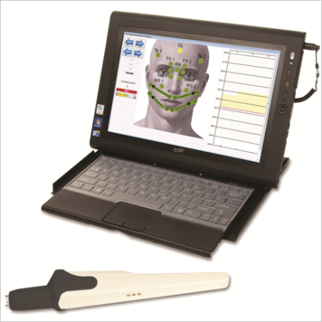 Picture: EU Thermography infrared thermometer and computer